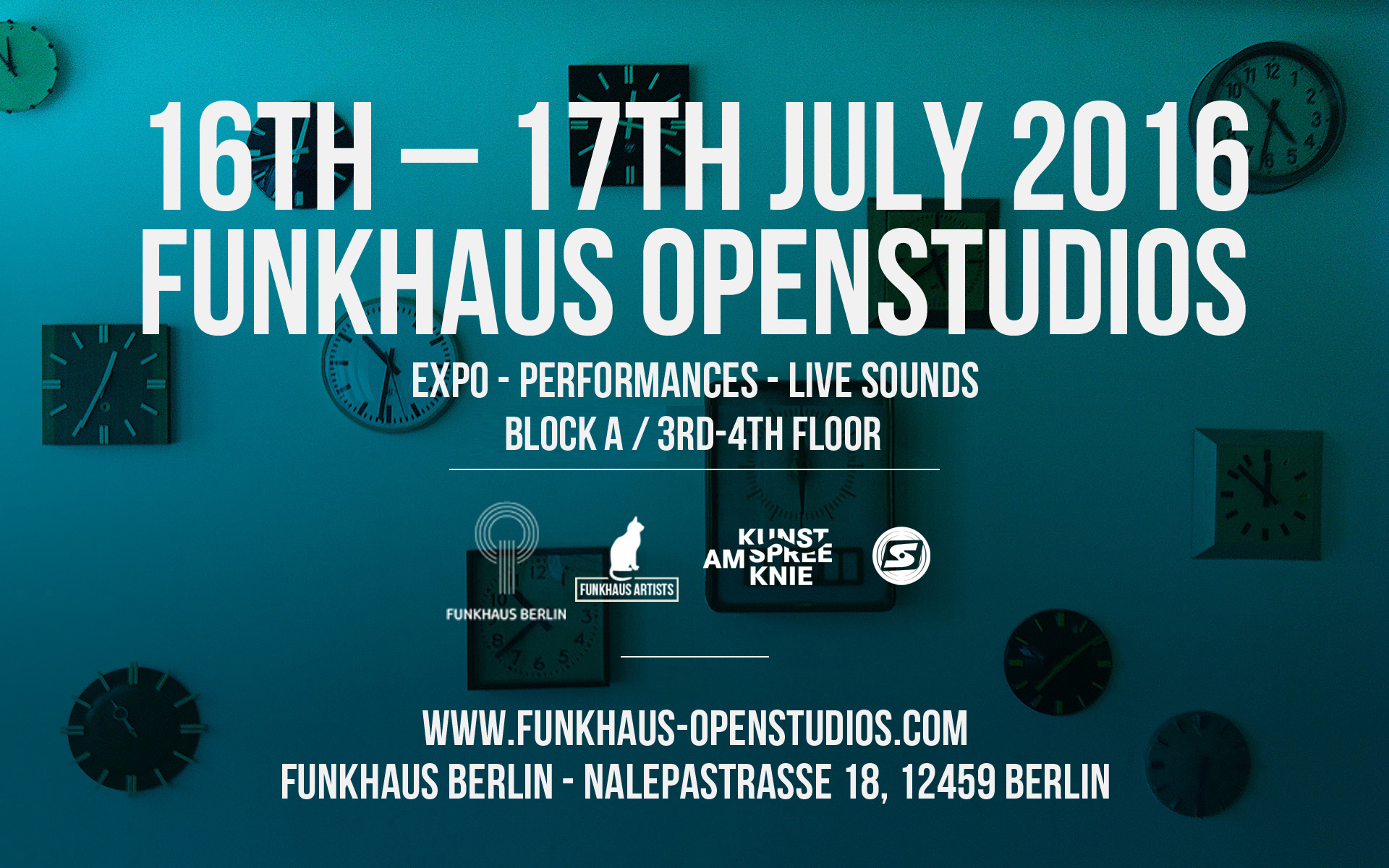 FUNKHAUS OPENSTUDIOS 16th - 17th JULY